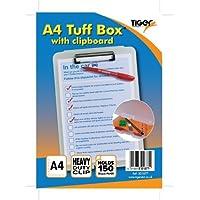 Resistente plastica trasparente, formato A4, per presentazioni Tuff Box-Contenitore per cartelle
