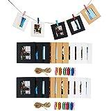 Cpano 20 pcs Décoration murale papier photo à suspendre film Cadre pour Fujifilm Instax Mini 8 7S 8 + 9 25 26 50S 90 Films de Polaroid et nom carte (noir / blanc / marron)