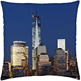 the new majestic freedom tower in nyc - Throw Pillow Cover Case (18