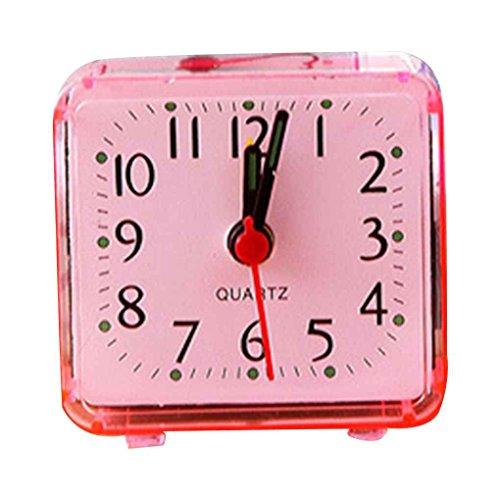 Vkospy Platz Kleiner Bett Wecker transparenter Fall Compact Reisewecker Mini Kinderstudenten Schreibtisch Uhr