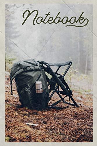 Notebook: Rucksack Backpack knapsack helpful Composition Book Journal Diary for Men, Women, Teen & Kids Vintage Retro Design for notes on hiking trails near me dog friendly