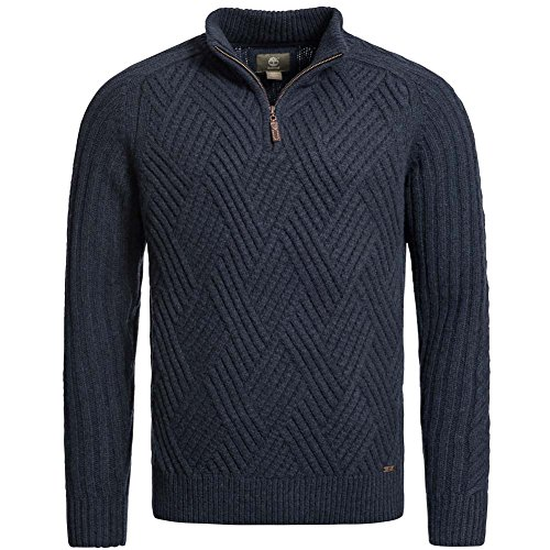 Timberland Moose River 1/2Zip Sweater Ecru Heather 5640j 103Pullover da uomo 5640J-475