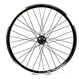 Wilkinson Rear Wheel 32 Hole Double Wall MTB Rim, Disc/V-Brake, Quick Release 8/9 Speed Disc Hub, Black Spokes - 26 x 1.75 Inches, Black
