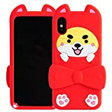 iPhone X Case, Phenix-Color 3D Cute Cartoon Soft Silicone Mickey Mouse Hello Kitty Love Bear Gel Back Cover Case for iPhone X (#96)