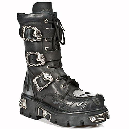 New Rock Boots Lederstiefel schwarz Style 711 BLACK, Steel
