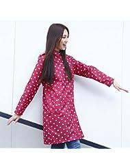 Femelle Imperméable Adulte Imperméable Long Coat Extérieur Windproof Poncho Imperméable Vêtements 2 Couleurs
