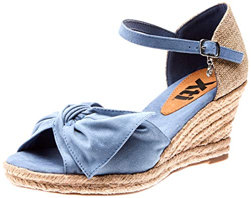 XTI 49105, Sandalias Plataforma Mujer, Azul Jeans