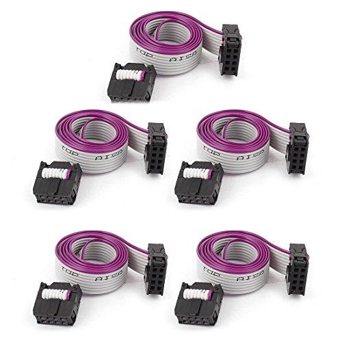 Sourcingmap® 5 FC8P 8-Pin IDC Buchse Verlängerung Flachkabel, 40 cm lang de - 8 Pin Wire