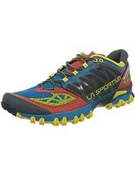 La Sportiva Bushido - Deportivos de running para hombre, color azul/rojo, talla 40.5