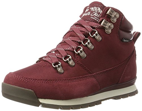 The North Face Damen Back to Berkeley Redux Leather Stiefel, Mehrfarbig (Barolo Red/Vintage White), 37 EU