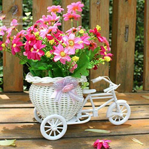 MumuXiDy Fahrrad Dekorative Blumenkorb Neueste Kunststoff Weiß Dreirad Fahrrad Design Blumenkorb Lagerung Party Dekoration Töpfe
