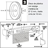 Wolfpack 5250140 Disco Persiana Plastico Espiga Metal 120x40mm. Cinta 18 mm