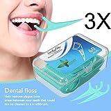 Zahnseide, LuckyFine 180 Stück Weiß Zahnpflege Interdental Flosser Zahnreiniger Sticks, Zahnseidensticks, Zahn Draht, Zahnstocher Stick Oralpflege -