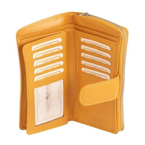 Greenburry Spongy - Portafoglio in pelle, 9,5 cm giallo