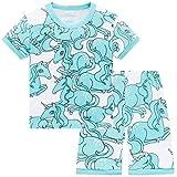 Hugbug Mädchen Schlafanzug Kurz mit Katze 4-5 Jahre