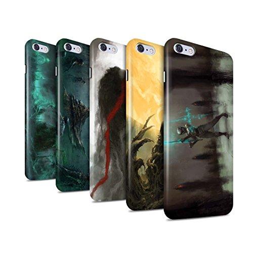 Offiziell Chris Cold Hülle / Glanz Snap-On Case für Apple iPhone 6+/Plus 5.5 / Schatten Ritter Muster / Unterwelt Kollektion Pack 5pcs