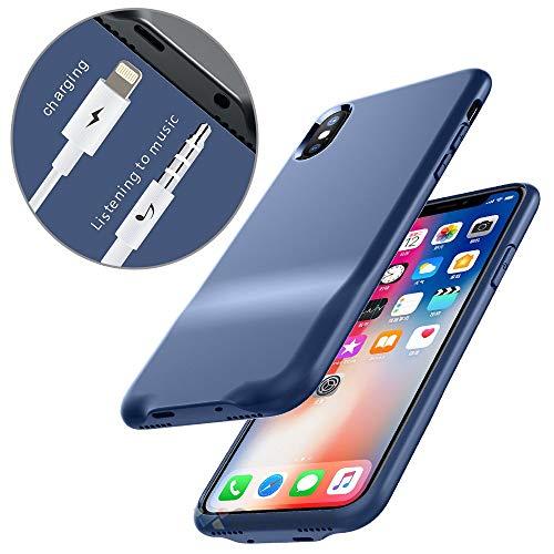 9864b2bb198 Cocomii 3.5mm Lightning Audio Armor iPhone XS/X Funda [3.5mm Aux  Auriculares Jack Adaptador Funda] Llamada+Audio+Cargador Cargar Y Escuchar  Música Case ...
