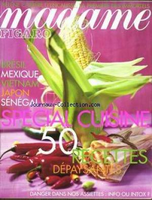 MADAME FIGARO [No 17179] du 13/11/1999 - HELENE CARRERE D'ENCAUSSE - BRESIL - MEXIQUE - VIETNAM - JAPON - SENEGAL - SPECIAL CUISINE.