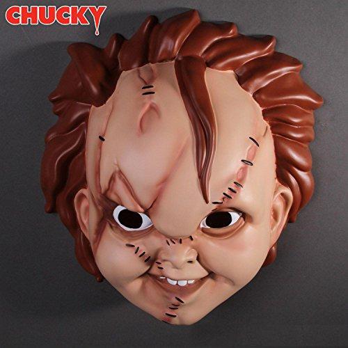 Child's Plays Chucky Maske für Erwachsene in Universalgröße aus Kunststoff (Kunststoff-maske Für Erwachsene)