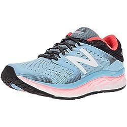 New Balance 1080v8, Zapatillas de Running para Mujer, Azul Clear Sky/Vivid Coral/Black, 37.5 EU