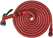Beorol Expandable Magic Garden Hose, 15 Meter With Sprayer Red