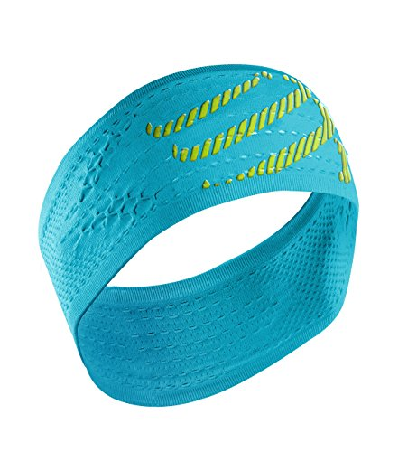 Compressport Headband On/Off - Cinta de cabeza unisex, color azul, talla única