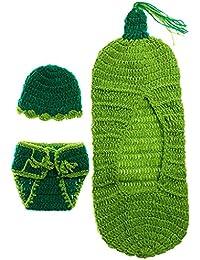 Magideal Baby Toddler Newborn Warm Knit Crochet Sleeping Bag Photography Photo Prop