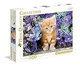 Clementoni 30415.8 - 500 T Collection, Katze Im Blumenmeer, Klassische Puzzle
