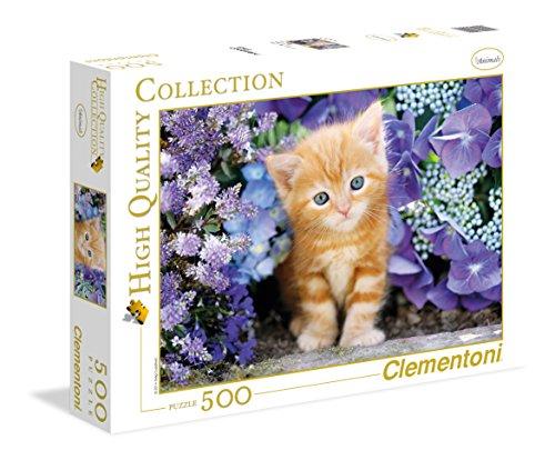 Clementoni - Puzzle de 500 piezas,, diseño Gatito Rubio (304158)