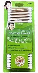 Wooden Stick Cotton Swabs (300) - Soft
