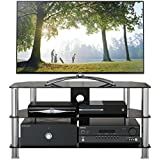 1home GT4 Glass Stand for LCD/LED TV Upto 32 to 60-Inch - Black