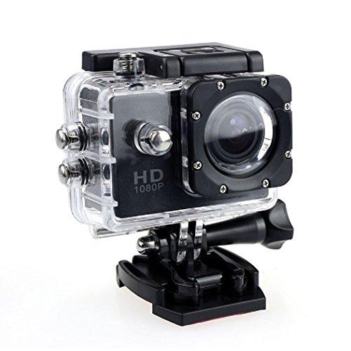 Ularma 12MP HD 1080p Fahrrad Auto Sport Mini DV Actionkamera wasserdicht Helmkamera (golden)