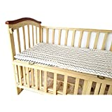 Baby Spannbetttuch Kinderbett 70x130 cm – 100% Baumwolle Musselin Extra Weich Sleeper Blatt Kinder Spannbettlaken für Standard Babymatratze Betten Einzelbett (Welle)