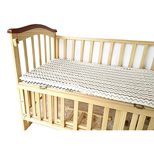 Lit bébé Drap-housse – 100% mousseline de coton Extra Doux Sleeper Feuilles 71,1 x 132,1 cm pour Standard Berceau Parure de lit et matelas pour bébé