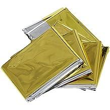 SODIAL(R) Manta de emergencia, Plata y oro, Tamano medio (210