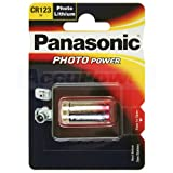 Panasonic CR123A Photo Power Lithium Batterie 100-Pack, 1450mAh