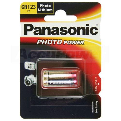 Panasonic CR123A Photo Power Lithium Batterie 100-Pack, 1450mAh