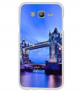 Fuson Designer Back Case Cover for Samsung Galaxy J5 (6) 2016 :: Samsung Galaxy J5 2016 J510F :: Samsung Galaxy J5 2016 J510Fn J510G J510Y J510M :: Samsung Galaxy J5 Duos 2016 (Landon Bridge evening dark blue lighting)