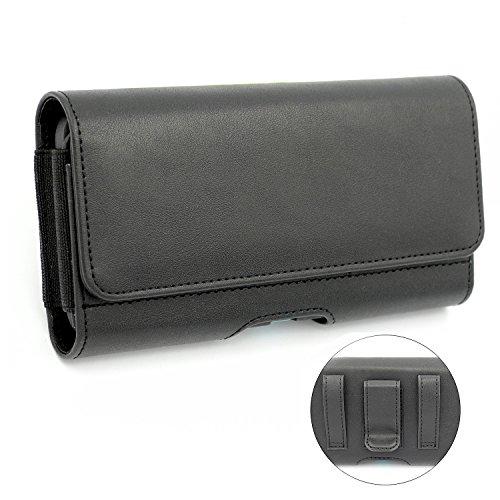 Huawei Honor 5C Hülle, Covboa Premium Ledertasche Kartenfach und Geldschein,Gürteltasche Handy Tasche Hülle case cover, Gürtelclip mit Doppel-Magnetverschluss Handyhülle für Huawei Honor 5C (Für eine dünne Schale Hülle) (Schwarz)