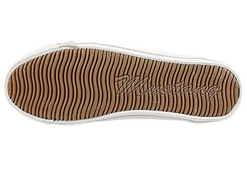 Mustang 1099-315 Schuhe Damen Schnürer Sneaker Canvas silber Braun