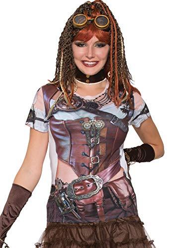 Forum Novelties Novelties-X77169 X77169 T-Shirt Steampunk Futuriste pour Femme, Multicolore, UK Size 10-14