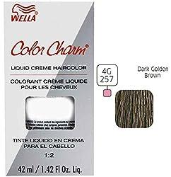 Wella Charm Liquid Permanent Hair Color, 257/4g Dark Golden Brown