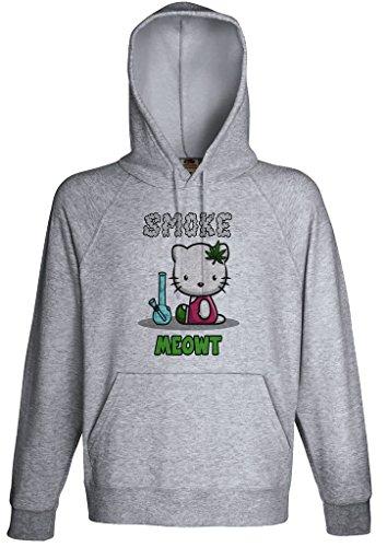 Smoke Meowt Weed Smoker Cat Hoodie Custom Made Hooded Sweatshirt (M)