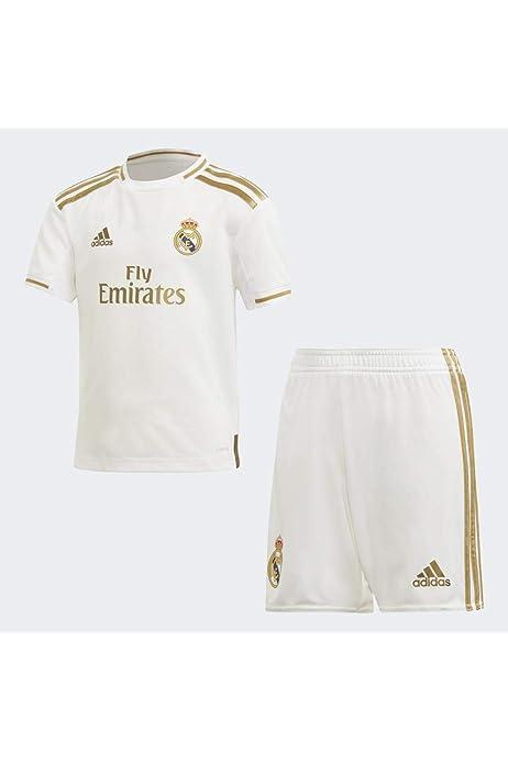 adidas Real H Y Kit Equipación, Unisex niños, Top:White Bottom:White, 152 (11/12 años): Amazon.es: Deportes y aire libre