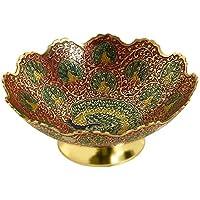 Zap Impex ® latón Decorativa Seca Frutero Carving Trabajo – Tamaño de 9 Schöne Rojos Color
