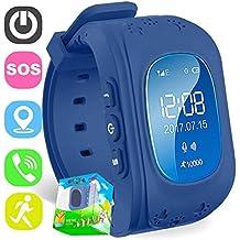 Reloj para Niños,TURNMEON Kids Smartwatch GPS Tracker con Localizador para Niños Niñas SIM Anti-perdida SOS Compatible con Android/IOS Smartphone