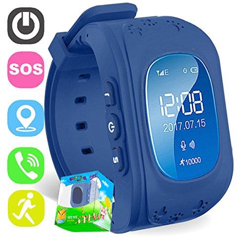 Reloj para Niños,TURNMEON Kids Smartwatch GPS Tracker Localizador(SIM Call,GPS,SOS) Compatible con Android/IOS Smartphone(Dark Blue)