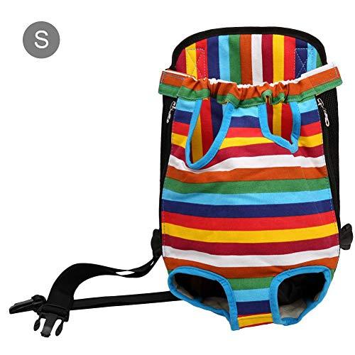 Meetforyou Pet Carrier Rucksack, verstellbare Pet Front Cat Dog Carrier Rucksack Reisetasche, Beine heraus, Easy-Fit für Reisen Wandern Camping -