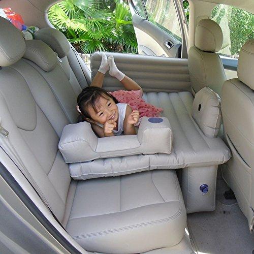 MEYLEE Auto-Reise-Aufblasbare Matratze-Kind-Luft-Bett-Kissen-Kampierender Universeller Rücksitz Verlängerte Luft-Couch - Supersicherheit, Sicherheits-Haken-Entwurf,Gray