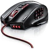 Titanwolf - 16400 dpi USB Gaming Laser Mouse   18 Tasten   16400 dpi Abtastrate   High Precision   konfigurierbare LED-Farb-Beleuchtung   Avago Sensor Technology   MMO Gaming   inkl. software (programmierbare Tasten)   bis zu 30G Beschleunigung   ergonomisches Design